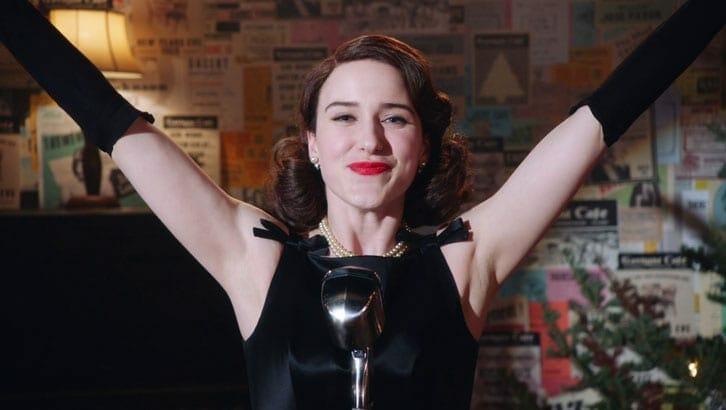 Rachel Brosnahan as Midge Maisel.