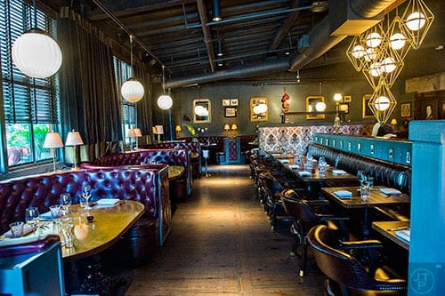 Marcel's casually opulent decor contributes to the dining experience. (Photo by Jonathan Phillips)
