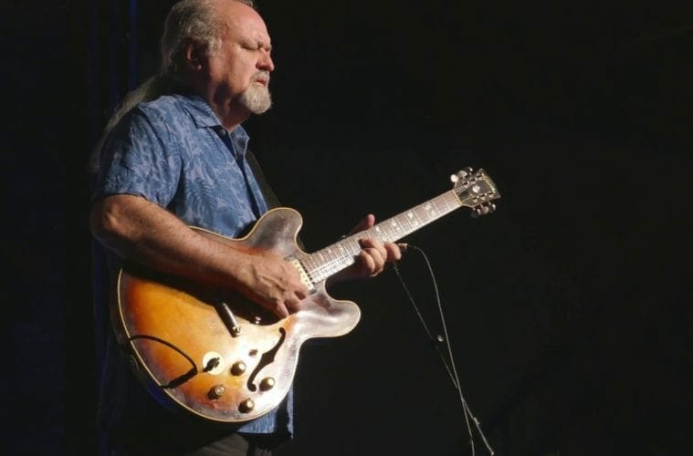 Atlanta bluesman Tinsley Ellis on stage.