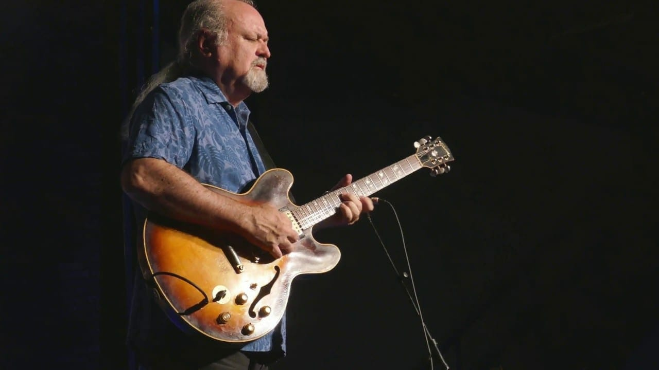 Atlanta bluesman Tinsley Ellis on stage.