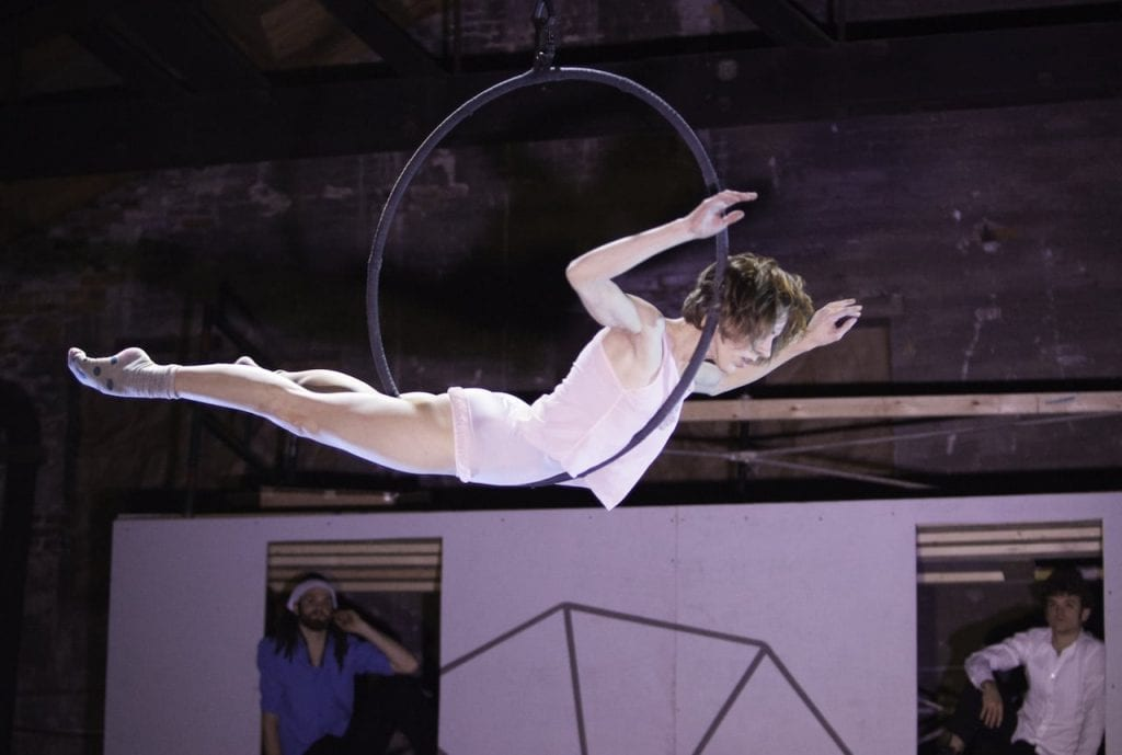 Aerial artist Meaghan Muller. (Photo by Charlie McCullers)