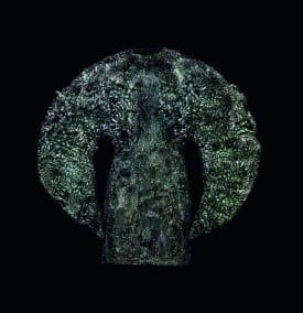 Iris van Herpen:  Wilderness Embodied, Dress, 2013, iron filings, polyurethane resin, and cotton. Courtesy of the designer. (Photo by Bart Oomes, No 6 Studios) © Iris van Herpen