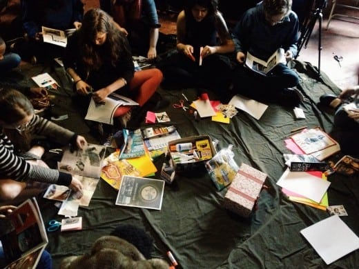 Zine-making class at Murmur Media
