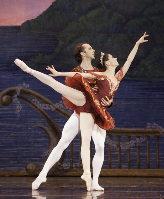 Nadia Mara and John Welker as the Sugar Plum Fairy and Cavalier.
