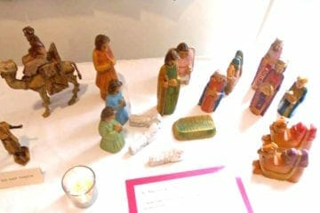 Nativity figures at Episcopal Church of the Epiphany.