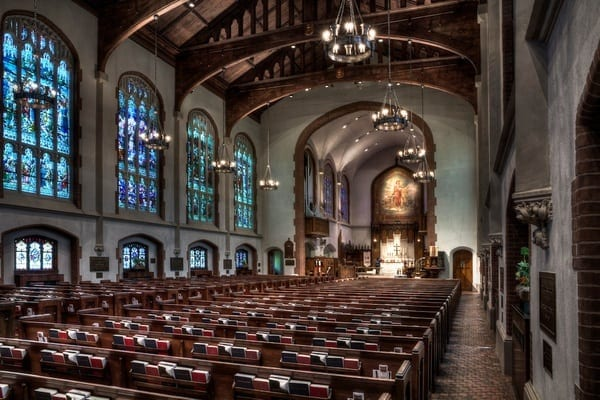 The interior of St. Luke's Episcopal Church, one of Terry's highlighted spaces.
