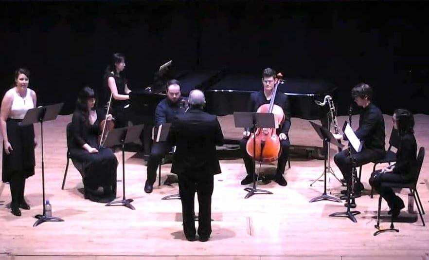 "Neophonia performs Schoenberg's ""Pierrot Lunaire."""