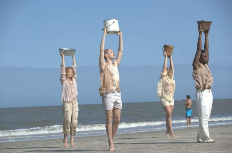 Core Dance artists perform the National Water Dance Project.
