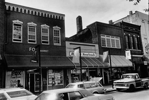 South Broad Street was once a thriving commercial district. better times.