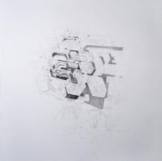 Ann Stewart: Oscillator, 2015, graphite on paper.