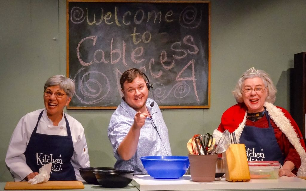 Pat Bell (left to right), Dylan Parker Singletary, and Betty Mitchell The Kitchen Witches. (Photo by Jerry Jobe)