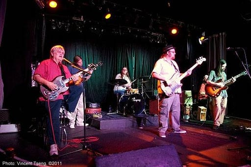 Trucks with Col. Bruce Hampton at Smith's Olde Bar. (Photo by Vincent Tseng)