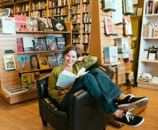 The author in her bookstore.