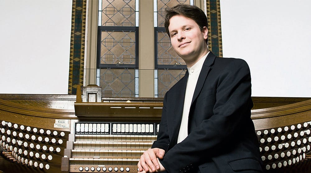 Paul Jacobs, the Grammy-winning concert organist, kicked off Spivey's anniversary season.