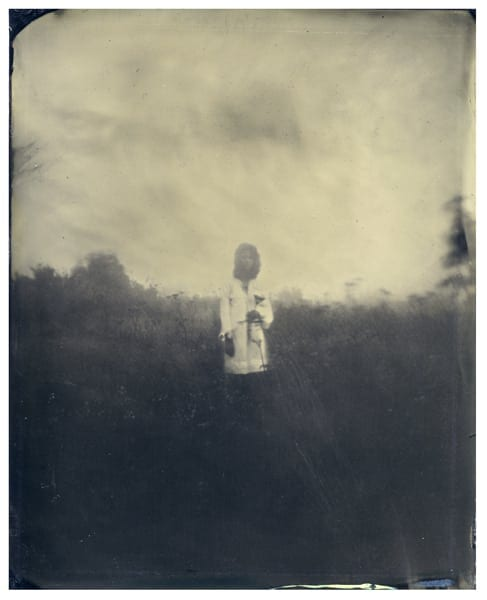 "Tommy Nease: Untitled (nevermore series), Tintype, 4""x5"", Unique, 2014."