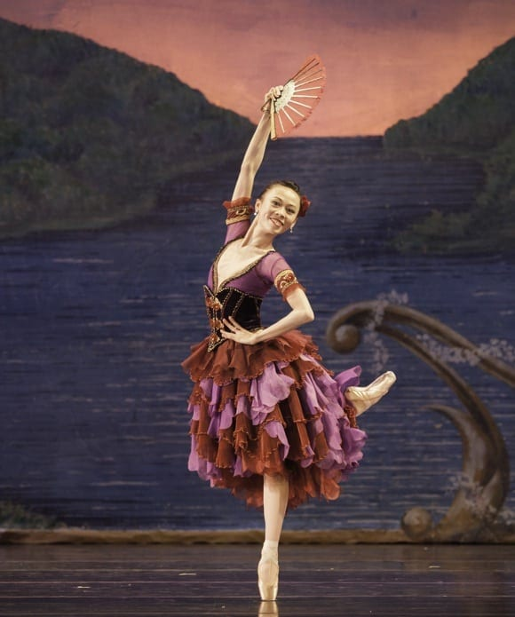 Peng-Yu Chen in this year's Nutcracker as the Spanish Dancer. (Photo by Charlie McCullers)