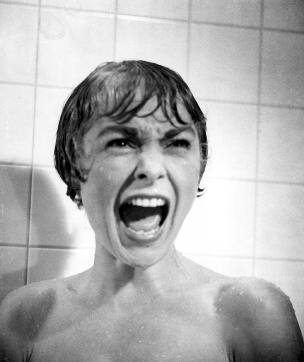 Janet Leigh and one of Hollywood's most famous screams in Psycho.