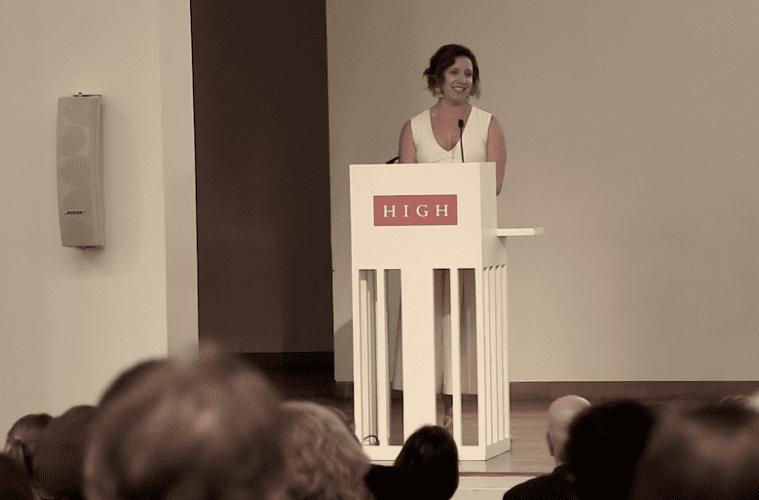 Rachel Eisaman at the podium