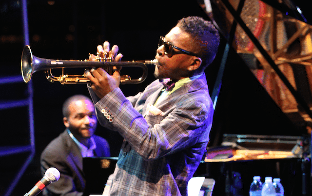 Roy Hargrove performing at the Atlanta Jazz Festival. (Photos by Rob D. Cohen)