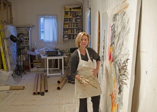 Rocío Rodriguez in her studio.