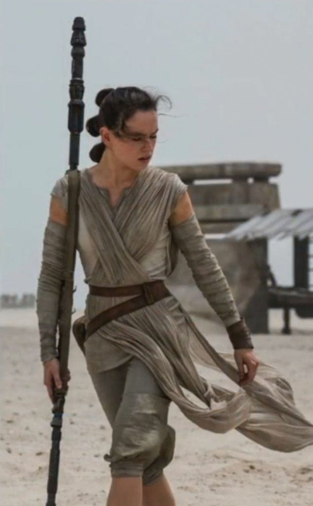 The new heroine is Rey, played by Daisy Ridley.