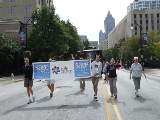 Hillery Rink (left) during Atlanta Pride 2011.