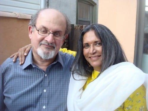 Author Salman Rushdie and director Deepa Mehta