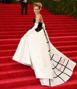 Sarah Jessica Parker on the Met Galas red carpet in 2014.