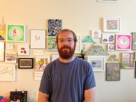 Sean Abrahams in his home studio.