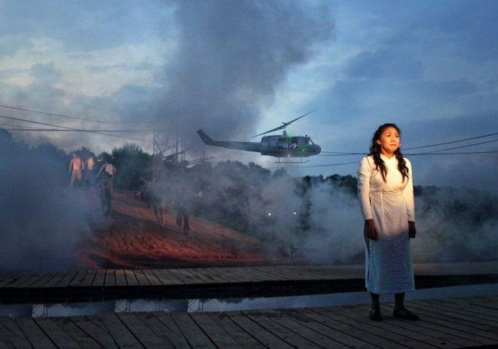 "Niki Badua as Kim in ""Miss Saigon."""