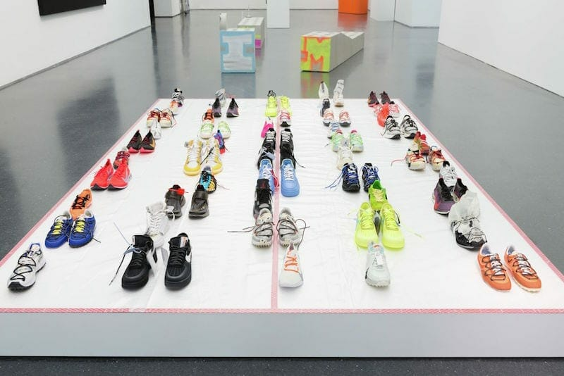 """Shoes"" from Virgil Abloh's ""Figures of Speech"" in Chicago."