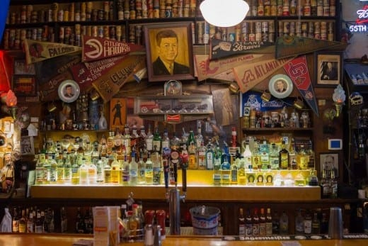 Maneul made the bar a shrine to his passions and politics. (Photo by )