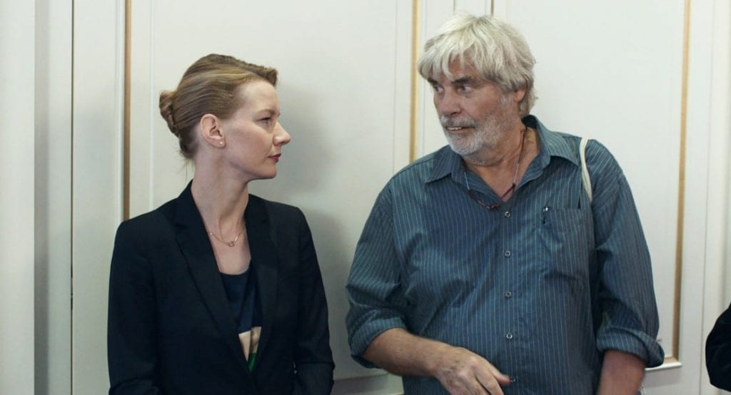 Sandra Hüller and Peter Simonischek in Toni Erdmann.