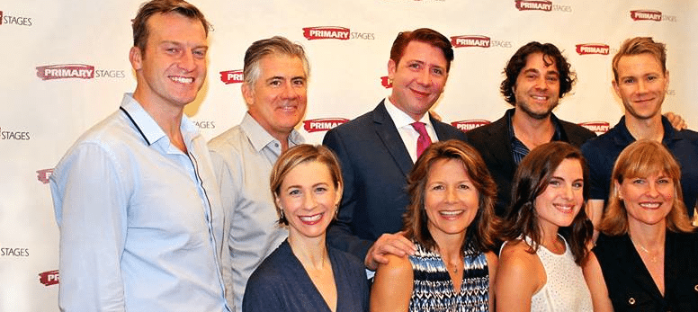 Payne (back row, center) with the New York cast of Perfect Arrangements.