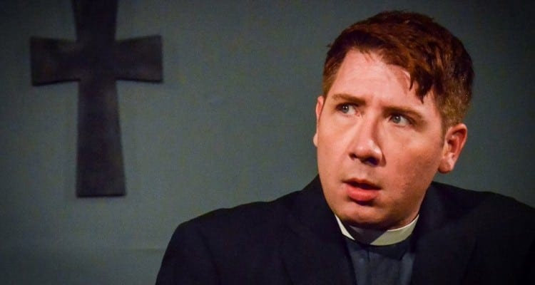Payne acting in Out of Box Theatre's Doubt, A Parable.