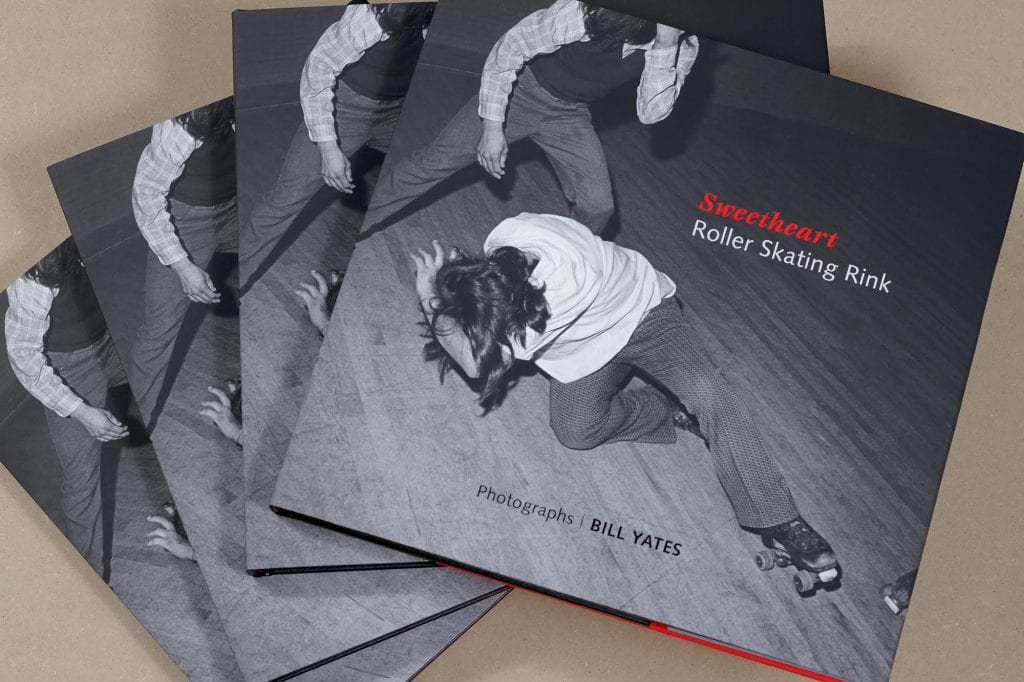 Copies of Fall Line Press' book Sweetheart Roller Rink. Image by Patricia Villafañe, courtesy Fall Line Press.