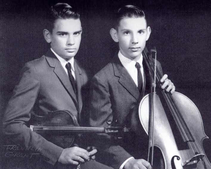 Charles (left) and Christopher Rex as musical prodigies in 1962. (Photo by Franklin Grant)
