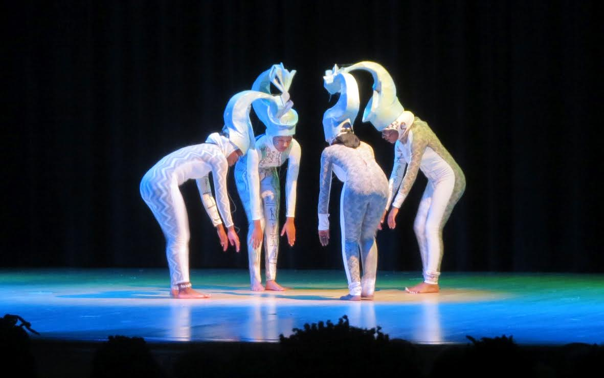 Dancers from the Afriky Lolo company perform a Serpent's dance.
