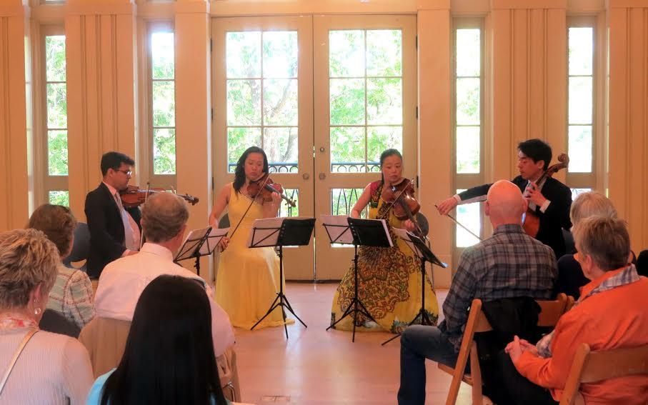 The Vega Quartet at Atlanta Botanical Garden. (Photo by Mark Gresham)