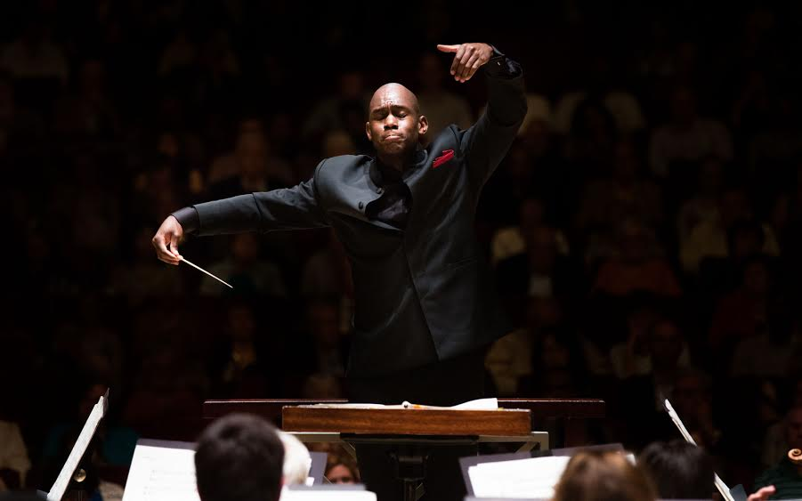 Assistant conductor Joseph Young at the helm of the ASO.