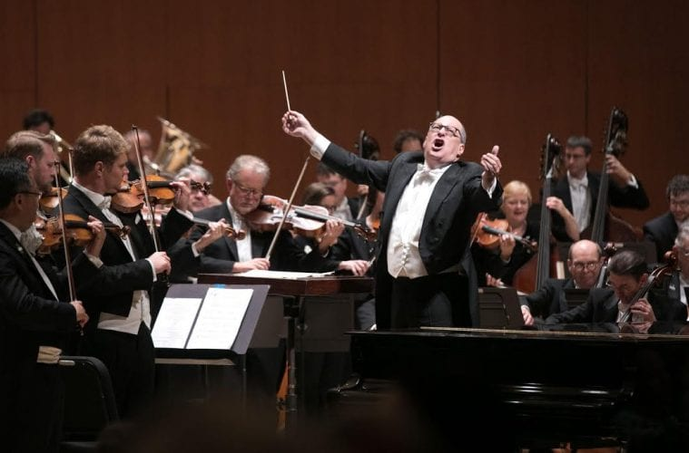 Atlanta Symphony Orchestra music director Robert Spano conducts