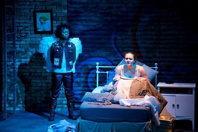 Danielle Deadwyler (left) as the angel and Natalia Via.