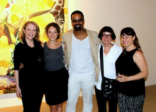From left: MOCA GA executive director Annette Cone-Skelton, Jill Frank, Musud Olufani, Elizabeth Lide and Sash Grayson.