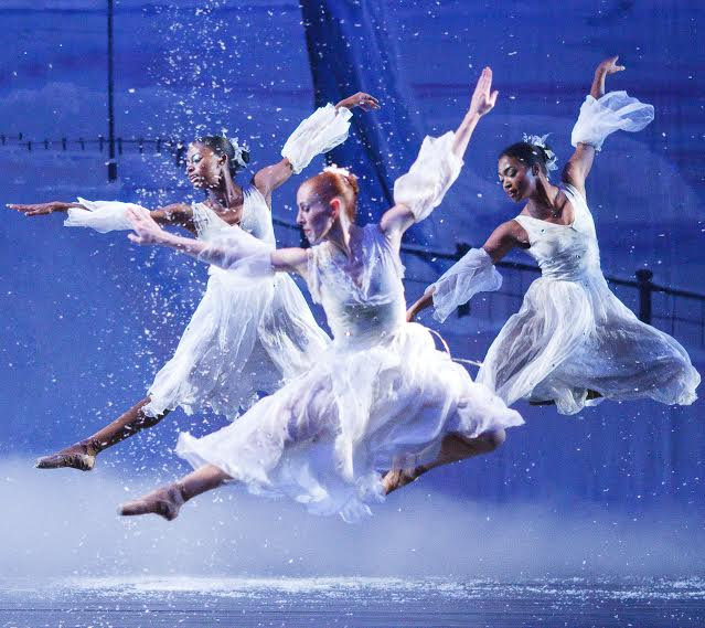 Dancing Snowflakes in Ballethnic's Urban Nutcracker.