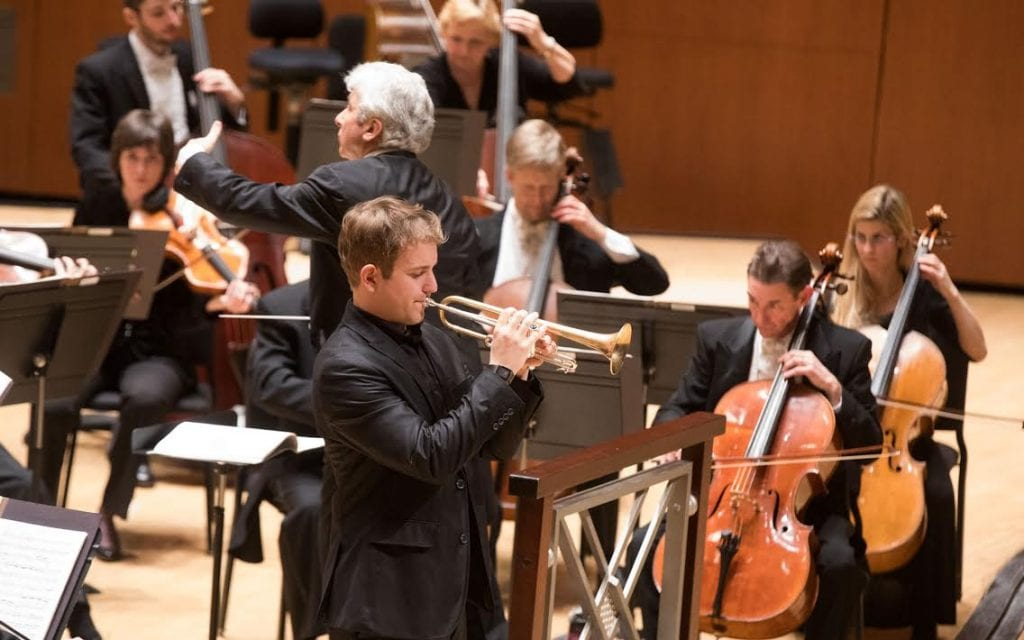 Stuart Stephenson made his solo debut with the orchestra.