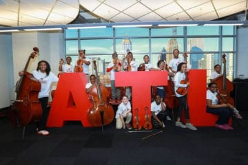 Student musicians with the Atlanta Music Project.