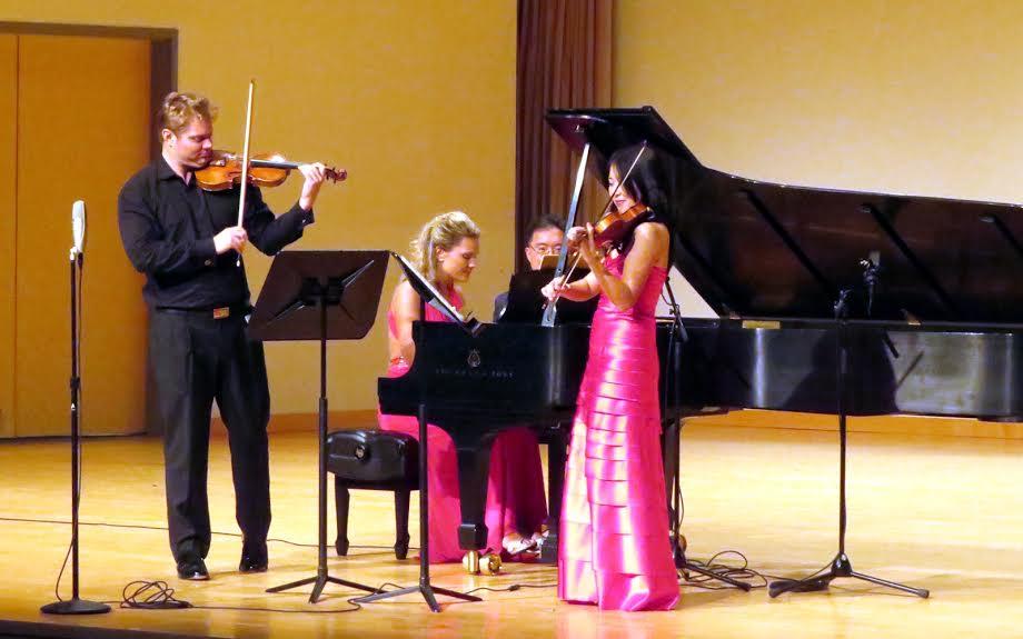 David Coucheron (left to right), Julie Coucheorn, Michael Kim and Helen Kim. (Photo by Mark Gresham)