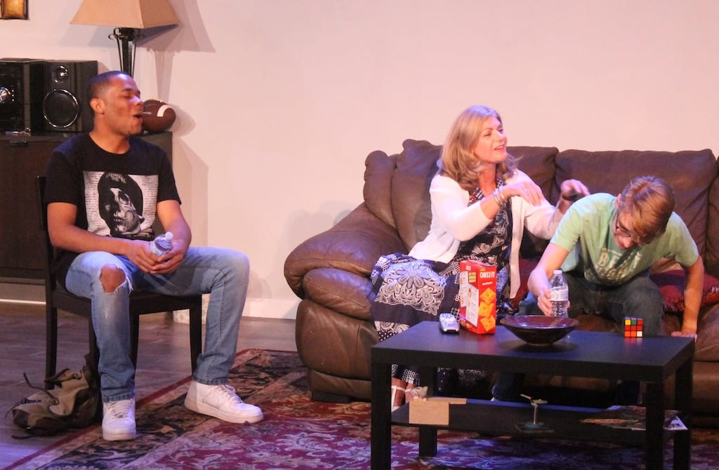 "A scene from the play ""Woke"" at Essential Theatre."