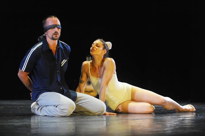 Sascha Engel (left) and Anat Grigorio in Ship of Fools. (Photo by Gadi Dagon)