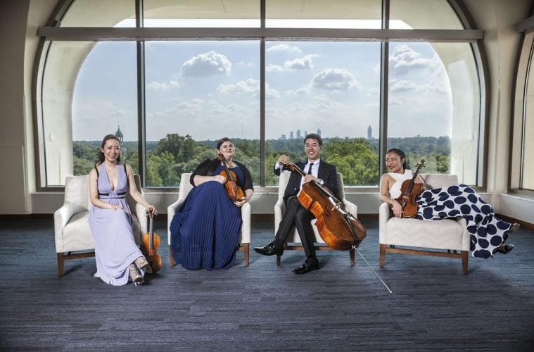 A portrait of Emory's chamber group the Vega Quartet.